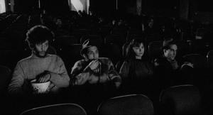 Hipsters watching movies in Stranger Than Paradise, one of the many films I watched recently.